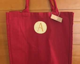 Canvas Red Tote