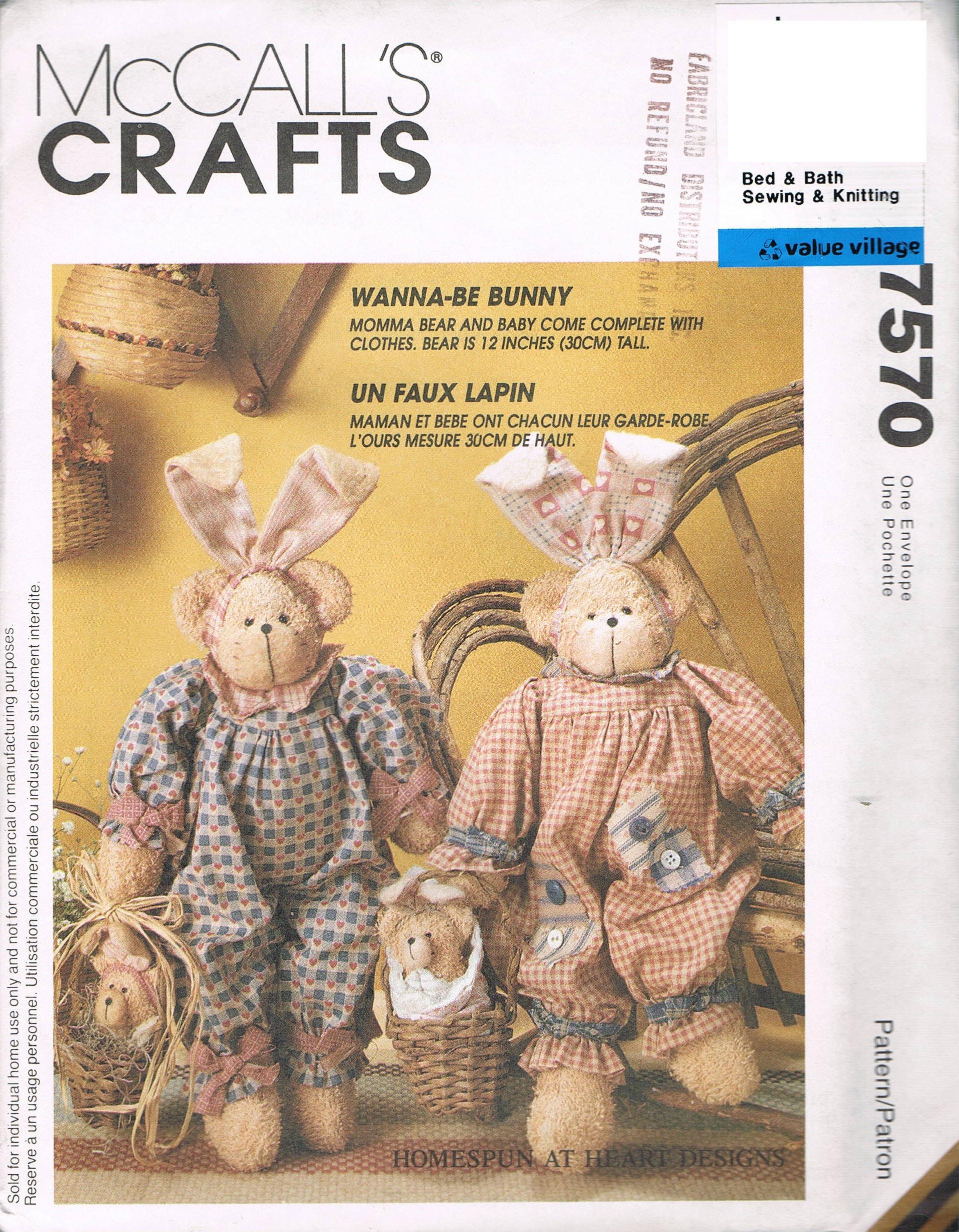 Land-Bär In ein Häschen-Kostüm Puppe mit Kleidung Nähen Muster