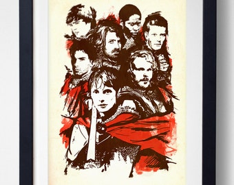 The Knights of Camelot - BBC Merlin Print