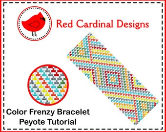 Color Frenzy Bracelet Peyote Tutorial
