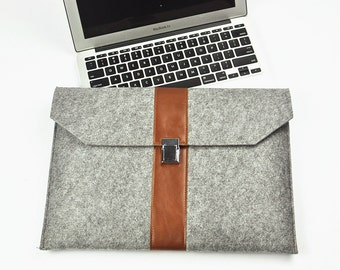 Surface Pro 4 case, Surface Pro 5 sleeve , Surface Pro 5 case, Felt and leather laptop case ,Surface book 13.5 case, Surface Pro cover,5A4