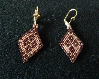 Copper & Raspberry Earrings