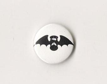 Good Omens Winged Hourglass Badge