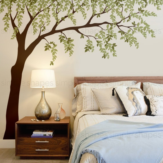 Weeping Willow Wall Decal with Leaves by SimpleShapes