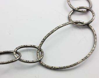 Hand Forged, Silver Bracelet, Handmade Links, Organic Silver Links, Statement Bracelet, Unisex Bracelet, Gift for Her