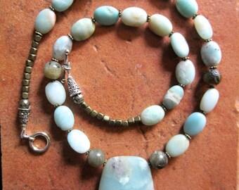 OOAK Aqua Amazonite Necklace