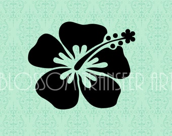 Hibiscus Clipart - Flower - Digital Image - Download for papercrafts - Iron on Transfer - 2408