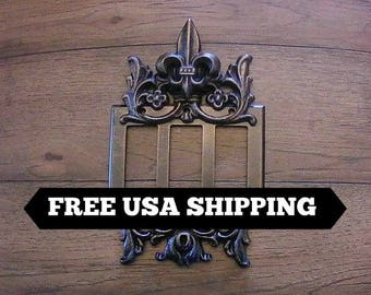 Triple Rocker Switch Plate | Fleur De Lis | Tuscan | Medieval | Old World | Traditional | Transitional | Free Shipping | FleurDeLisJunkie