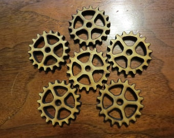 Steampunk Gears Wooden 1/4 thickness