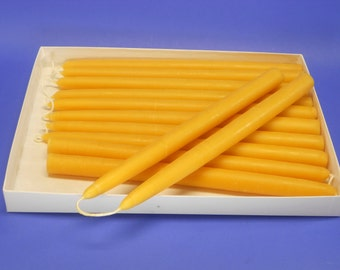 """Beeswax Tapers, 5 Pair of 7/8"""" x 10"""" Bees Wax Candle Tapers, 10 Organic Tapers, Table Centerpiece, Fireplace Mantel Candles, Christmas Gift"""