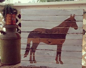 Horse Pallet Art