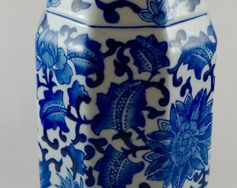 Wavy Lip Blue & White Chinoiserie Vase