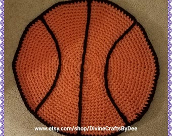 Crochet Basketball Rug