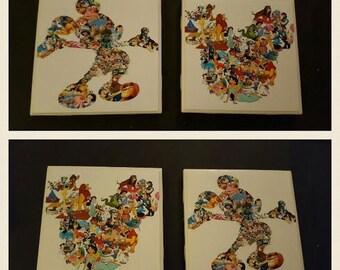 Disney Mickey Coaster- Set of 4