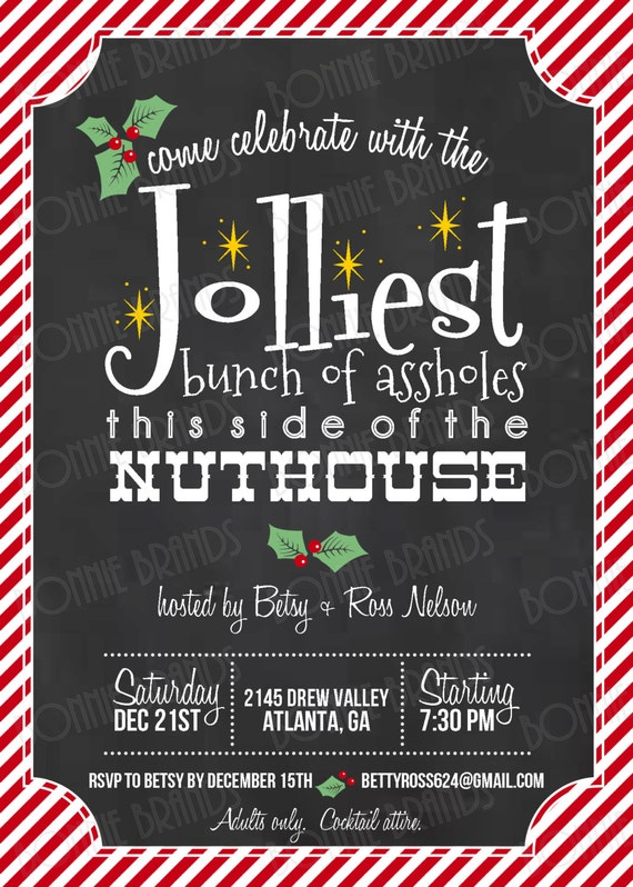 Funny Christmas Party Ideas Part - 23: Christmas Themed Invitations
