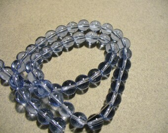 Glass Beads Blue  Round  6MM