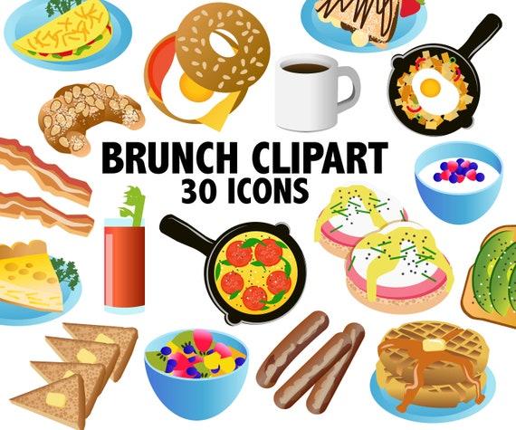 brunch clipart breakfast clipart brunch clip art food rh etsy com branch clip art free branch clip art free