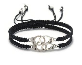 Handcuffs Bracelet, Partners in Crime, Best Friend Bracelet, Friendship Bracelet, Best Friend Gift, Matching Bracelet, Best Friend Handcuff
