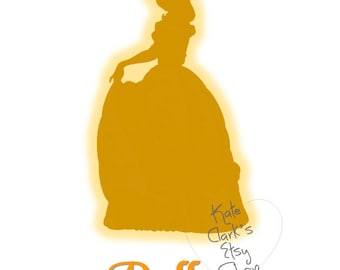 Princess Belle Digital Art Printable