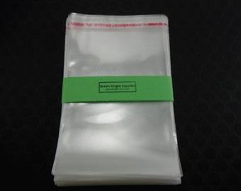 100 Pcs - Clear Resealable Cellophane Bags 9cm wide x 13cm long CB002