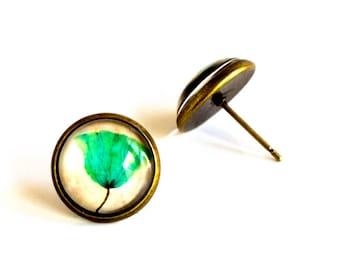 Blue poppy earrings, Poppy Earrings, Poppy Jewelry, Flower Earrings, Flower Jewelry, Glass stud earrings, Glass Earrings