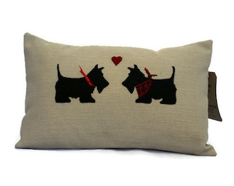 Scotty Dogs Cushion, Scotty Dogs Pillow , Scotty Cushion , Scotty Pillow