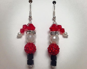Earrings kit, Christmas holiday santa