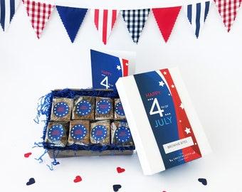 Happy 4th of July Gluten Free Brownie Box