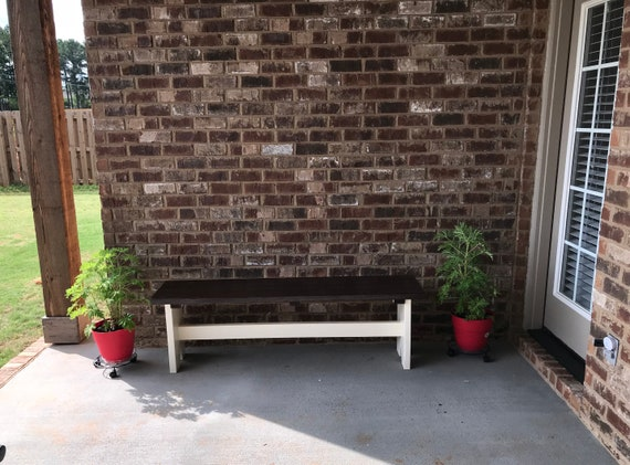 Customizable farmhouse bench