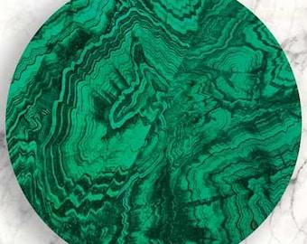Malachite, Faux Malachite no. 5 plate