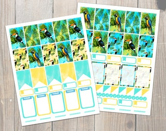 Tropical Rainforest Happy Planner Stickers