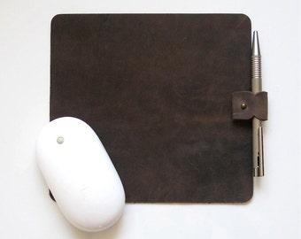 Leather Mouse Pad, leather mousepad, leather mouse mat, mouse pad, mousepad, monogram mousepad