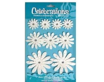 "3D flowers ""petaloo"" scrapbooking card making embellishment stickers *."