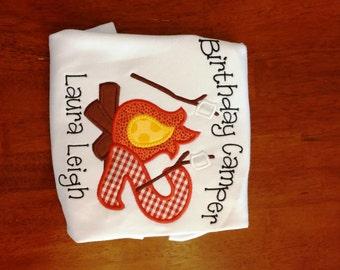 Birthday Camper Applique Shirt