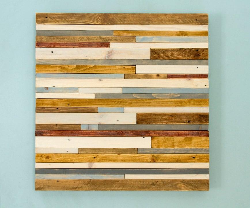 Reclaimed Wood Wall Art Industrial