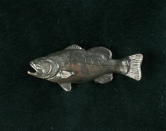 Largemouth Bass in sterling silver