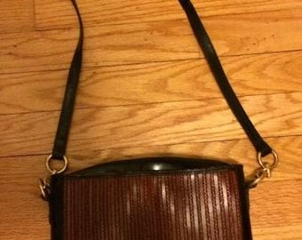 Sale Vintage Cristian Italian Leather Shoulder Handbag- Made In Italy