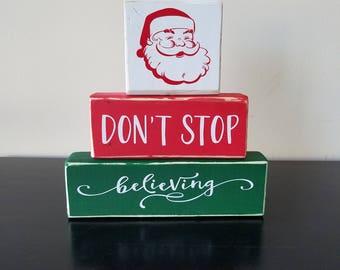 Santa Stacker ~ Don't Stop Believing ~ Christmas Stacker ~ Santa Believer