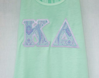 Mint Tank With Paisley on Lavender