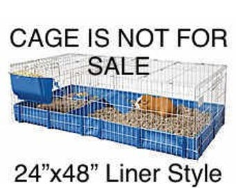 "All Living Things Open Guinea Pig Home Cage liner (24""x48"")"