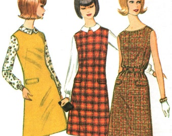 McCall's 7890 sewing pattern // Dress or Jumper and Blouse ''Easy to Sew''
