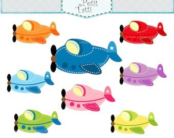 ON SALE airplane clip art - plane clip art, toy plane Clip Art, toy airplanes, instant download, digital clip art
