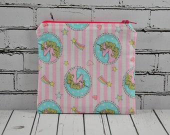 Pink Unicorn Coin Pouch, Coin Purse
