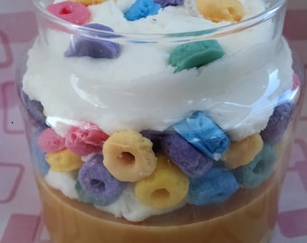 Fruity Loops, Bakery Jar Candle, Cereal Candle, Dessert Candle, Scented Soy Wax, Unique Candles, Food Candles, Creative Candle Jars