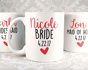 Bridesmaid Coffee Mug, Gift for Bridesmaid, Matron of Honor Gift, Maid of Honor Gift, Personalized Coffee Mug, Wedding Coffee Mug