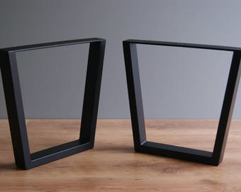 Trapezoid steel bench legs, coffee table legs, bench base, coffee table base (SET OF 2)