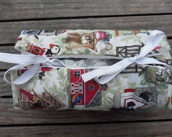 TISSUE box fabric birds