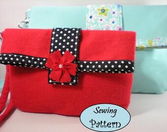 Girl Cosmetic wristlet clutch bag pdf sewing pattern tutorials pdf tutorial sewing patterns epattern Ebook Ebooks printable