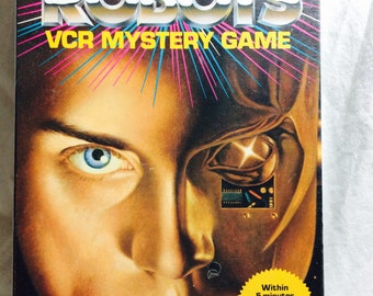 Isaac Asimov Robots VCR Mystery Game, Isaac Asimov, Vintage games, science fiction games, Science Fiction