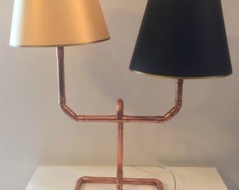 Copper Table Lamp   Desk Lamp   BedSide Lamp   Reading Lamp   Modern Lighting   Copper Home Decor   Steampunk Lamp